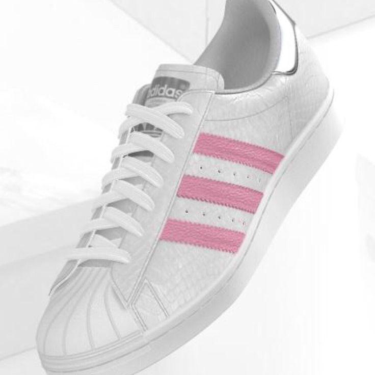 adidas superstar bande rose pale