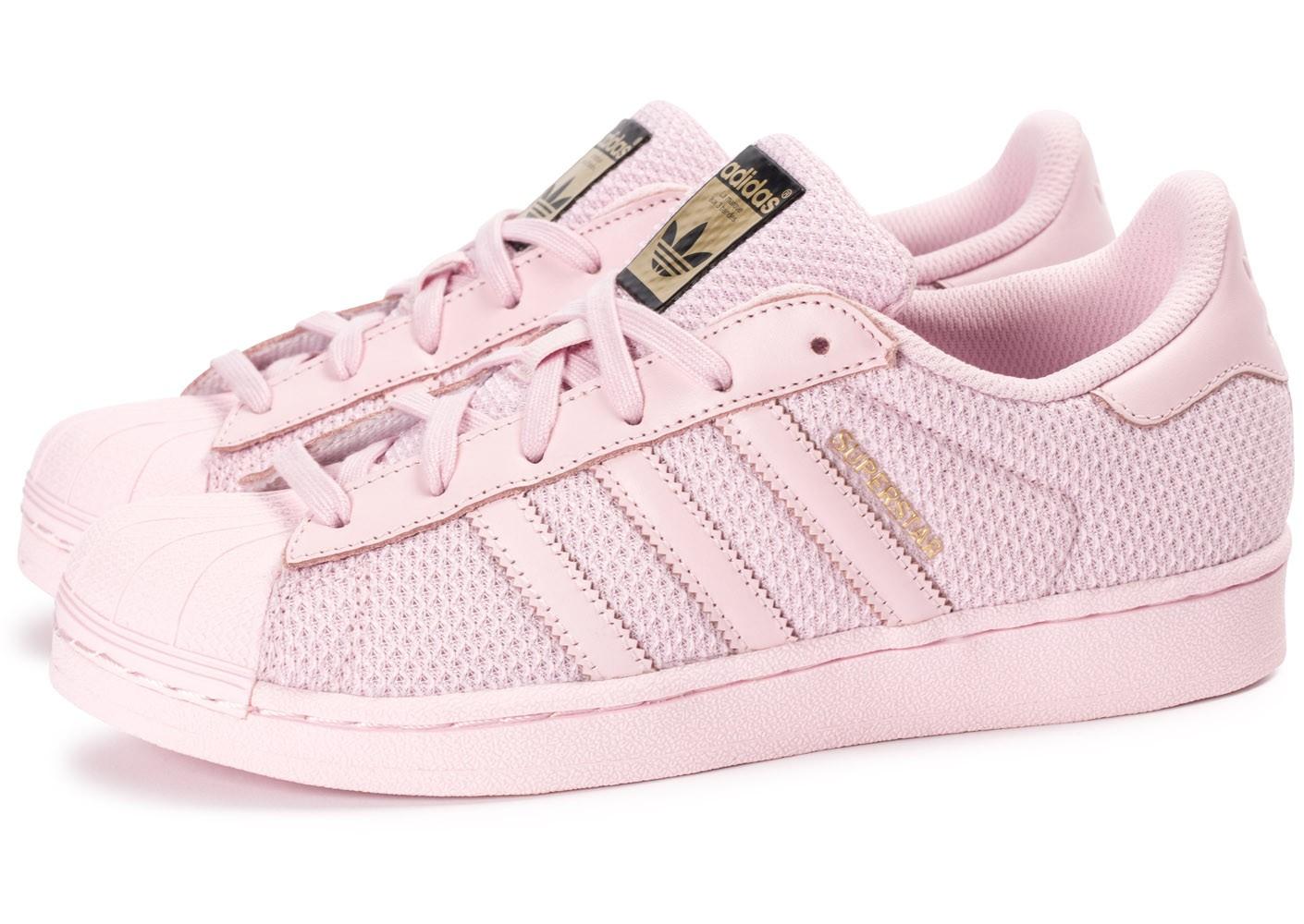 adidas superstar femmes roses